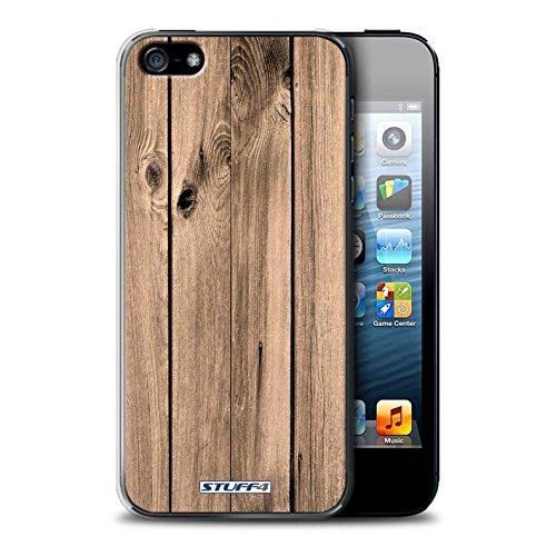Stuff4 Hülle / Hülle für Apple iPhone 5C / Nussbaum Muster / Holz/Holzmaserung Muster Kollektion Brett
