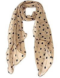 Wensltd Clearance! Women Beautiful Polka DOT Chiffon Stole Scarf (Beige)
