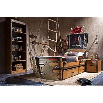 Piratenbett Cilek Black Pirate Schiff-Bett Kinderbett Jugendzimmerbett Kindermöbel