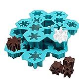 In Silicone Ice Cube vassoi Set di 2 - muffa del Silicone del fiocco di neve per il cubetto di ghiaccio, caramelle, cioccolato o sapone - Xmas stampo
