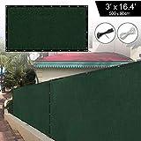 shsyue Pantalla de privacidad para balcón, 5 x 0,9 m, Escudo de privacidad, Pantalla HDPE sin Tornillos, Cubierta Permeable para balcón, Bridas para Cables, Verde