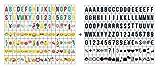 Ai-life 252 Stück DIY Dekorativ Schwarze/Farbe Buchstabe-Karte Emojis Zahlen Symbole und Zeichen Einschubplättchen Set