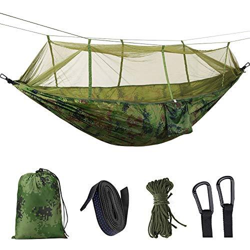Idefair Amaca con zanzariera, doppia amaca da campeggio Bug Net impermeabile portatile e leggero per zaino in spalla Escursionismo Viaggi all\'aperto