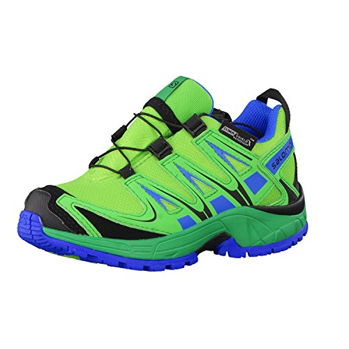 162d5c3480e8bc Salomon XA Pro 3D CSWP Kids Junior Größe 28 tonic green athletic  green union blue