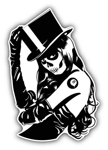 Sugar Skull Tattoo Girl Hochwertigen Auto-Autoaufkleber 10 x 12 cm