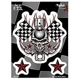 YUJEAN Sticker - Pegatinas para Moto, Coche, Cascos ecc