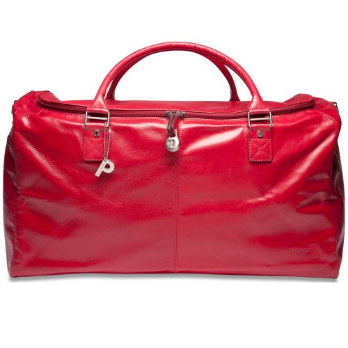 PICARD Travelcase Leather Weekend Unisex Red 4680