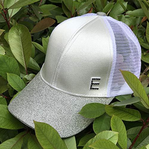 sdssup Ente Zunge Hut weibliche Flut Hellen Kristall Baseballmütze Mesh-Kappe Sommer Silber weiß (E-Net Mesh-Kappe) einstellbar