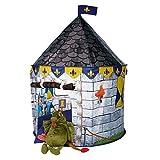 Spielzelt für Mädchen oder Jungen, Burg Turm für Prinzen, Pop up Super einfach und schnell auf- und abbauen. Das perfekte Geschenk Schloss Spielhaus Zelt
