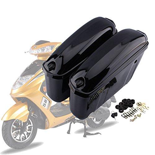 2x Motorrad Seitenkoffer Hartschalenkoffer Motorradkoffer Side-Box Kisten