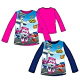 SUPER WINGS Camiseta Manga Larga Dizzy para niña (4, Fucsia)