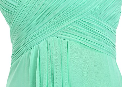 Bridal_Mall - Robe - Trapèze - Sans Manche - Femme Vert