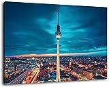 Fernsehturm in Berlin Format:120x80 cm Bild auf Leinwand