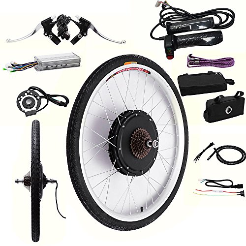 "OBLLER 36V / 48V E-Bike Motor Hub Electric Bicycle Conversion Kits 26"" Front/Rear Motor (48V 1000W Rear)"