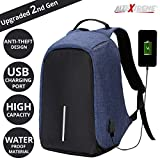 #6: AllExtreme Anti Theft Backpack Waterproof Business Laptop Bag with USB Charging Port for 14 inch Laptop, Notebook, Camera and Mobile (Blue)