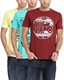 Classic Polo Multicoloured Pack of 3 Combo T-shirts for Men