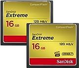 SanDisk Extreme - Memoria Compact Flash de 16 GB (120 MB/s)