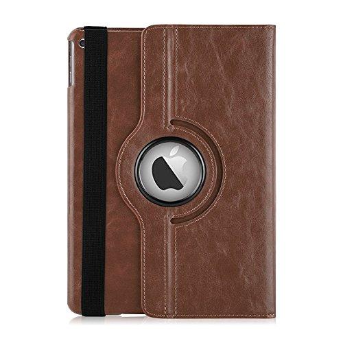 iPad 4 Rotierende Hülle | JAMMYLIZARD Ledertasche Flip Case [360 Grad Drehbare Tasche] Leder Smart Cover Retro Lederhülle für iPad 4 (mit Retina), iPad 3 und iPad 2, Braun