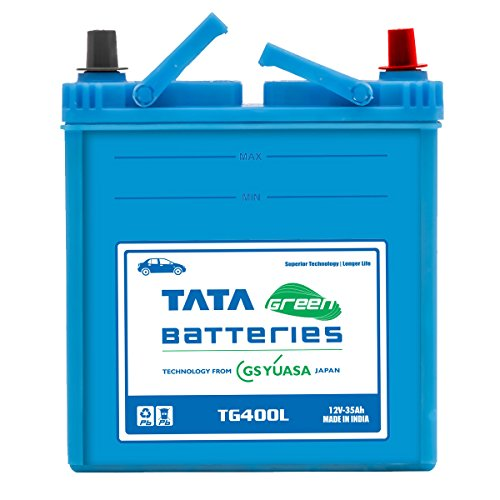 Tata Green Batteries 1419511268 TG Series TG400L 12V 35Ah Car Battery (Under Exchange-Old Battery)