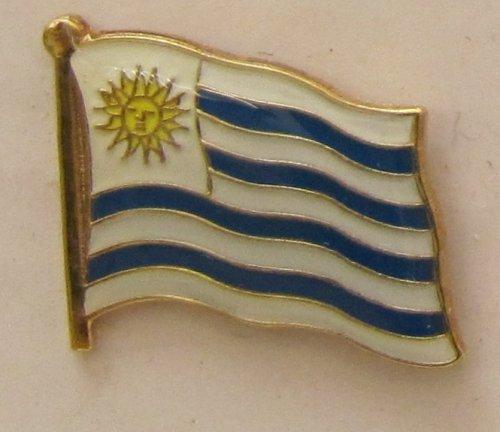 Uruguay Pin Anstecker Flagge Fahne Nationalflagge Flaggenpin Badge Button Flaggen Clip Anstecknadel -
