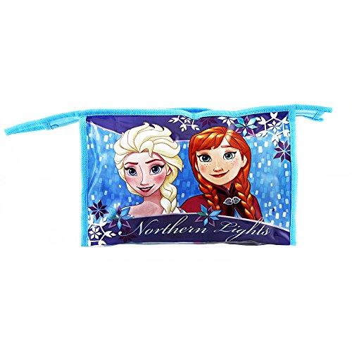 Diakakis 0561550 Set Trousse de Toilette garnie - Vanity Case sous Licence la Reine des neiges - 5 pcs -Dimensions: 23x15x8cm Plastique, Bleu, 23 x 8 x 15 cm