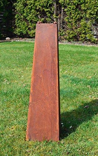 HKC Home Deco Säule Edelrost aus Metall !!!! 100cm !!!! Deko Gartendeko Rost Garten Skulptur Vase Pflanzsäule Pflanzkübel