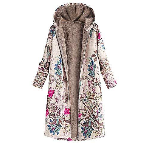 Berimaterry Damen Warm Pullover Fleecemantel Vintage Winterjacke Gefüttert Plüschjacke Jacke Parka...