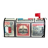 Alaza(mailbox cover) Sellos de Francia magnético Cubierta de buzón tamaño estándar 45,72 cm x 20,8'