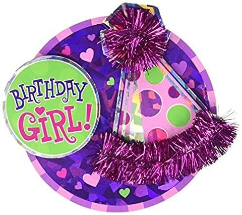 Amscan International Button Large Birthday Girl by Amscan