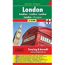 Londres City Pocket, plano callejero plastificado, de bolsillo. Escala 1:10.000. Freytag & Berndt. (City Pocket + The Big Five)