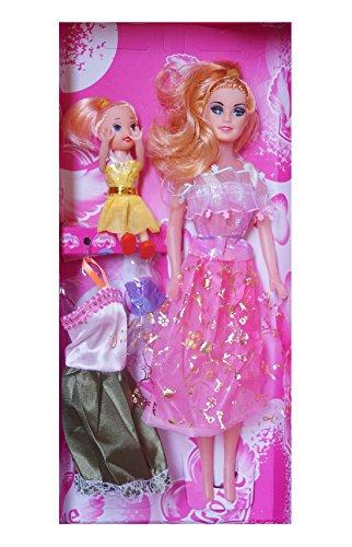 Wish Key Beautiful Fashion Dolls with Dresses Barbie For Baby Kids Girls