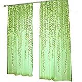 Tongshi Willow Tulle Puerta cortina de la ventana del Panel Drape cenefas bufanda Sheer