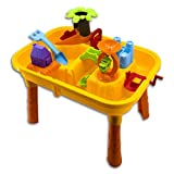 Childrens Sand and Water Activity Play Table with Accessories