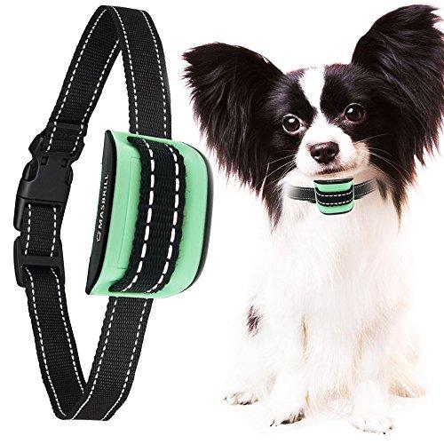 MASBRILL Anti-Bell-Halsbänder - Hunde trainingshalsband für kleine und mittelgroße Hunde mit Vibration. Kontrolle von übermäßigem Bellen mit diesem einfachen Antibell Halsband. Sicher und human ohne Schock (Hund Antibellhalsband)