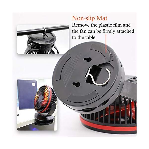 Mini-Ventilador-de-Mesa-Clip-Ventilador-Personal-Porttil-Ventilador-con-Doble-Li-ion-batera-4-Velocidades-Oscilante-de-360-grados-Modo-de-luz-LED-para-Cualquier-Uso-Viajes-y-Oficina-u-Hogar