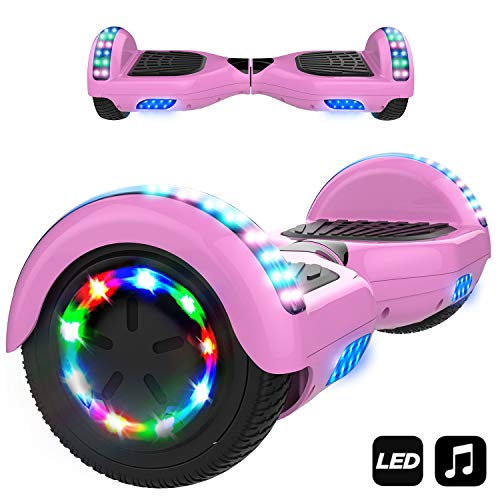 Markboard Patinete Eléctrico 6.5' con Luces LED, Flash Ruedas, Cinco Estrellas con Bluetooth,...