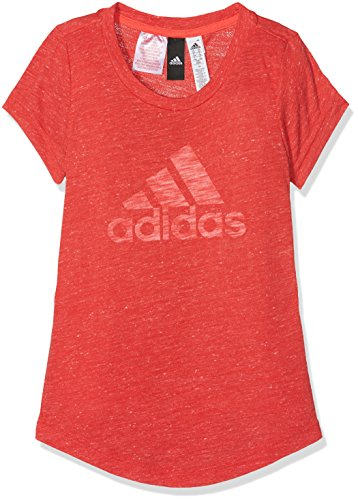 adidas Kinder Youth ID T-Shirt, Real Coral White, 140