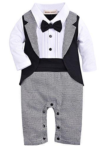 ZOEREA Säuglings babys scherzt Kinder kleidungs mantel Weste Spielanzug der Ausstattungs overall mit langen Ärmeln Baumwolle Kleidung (Säuglings-baby-strampelanzug)