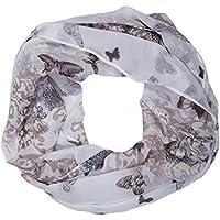 ManuMar Loop-Schal für Damen   Schlauch-Schal mit Schmetterling-Motiv