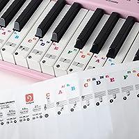 Vangoa - Pegatinas de piano y teclado para teclados 37/49/61/88, extraíbles y transparentes