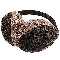 LerBen Fashion Unisex Knit Warm EarMuffs Winter Outdoor Soft Faux Plush Ear warmer (Coffee)