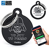"""Placa Identificativa para Perros """"Yo soy tu perro"""" con NFC y QR, 32 mm, Unisex, Perdidus®"""