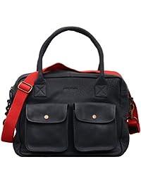 LE DANDY Bleu Encre sac bandoulière cuir style vintage PAUL MARIUS