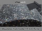 Bautenschutzmatte 10 mm - 1,25 m x 6 m | Gummimatte | Antivibrationsmatte
