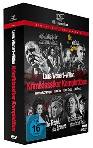 Louis Weinert-Wilton - Krimiklassiker Komplettbox (Der Teppich des Grauens / Die weiße Spinne / Das Geheimnis der schwarzen Witwe / ..chinesischen Nelke) - Filmjuwelen [4 DVDs] - Bild 2