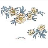 Grandes fleurs stickers muraux auto-adhésifs chambre décoration dortoir PVC autocollants salon personnalisé canapé TV fond papier peint 210 * 99 cm