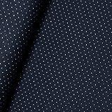 Doubleface Punkte Jacquard Jersey Bio-Stoff Baumwolle kba GOTs Pünktchen Gepunktet (Blau)