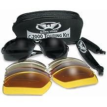 Incassable aviron Lunettes/lunettes enveloppantes avec 5 Paires de verres interchangeables UV400, sangle et housse en Pochette de rangement néoprène