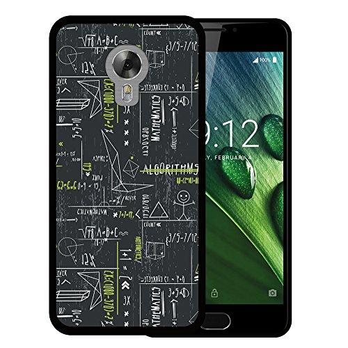 Acer Liquid Z6 Plus Hülle, WoowCase Handyhülle Silikon für [ Acer Liquid Z6 Plus ] Grüne mathematische Formeln Handytasche Handy Cover Case Schutzhülle Flexible TPU - Schwarz