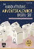 Das Handlettering-Adventskalender-Bastelset – 24 Papierhäuschen zum Befüllen und Verschenken: Mit gestanzten Papierbogen